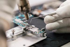 Soldering microscope board